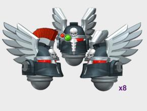 10x Winged Knight - Ferrum Helmets : Squad Set in Smooth Fine Detail Plastic