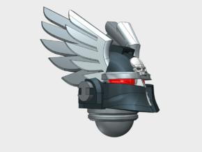 10x Winged Knight - Ferrum Helmets in Smooth Fine Detail Plastic