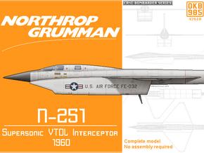Northrop Grumman N-251 Supersonic VTOL Interceptor in Black Natural Versatile Plastic: 1:144