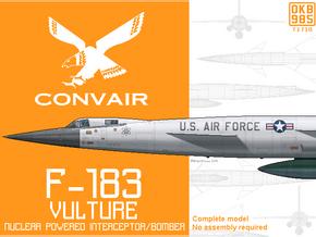 F-183 Vulture Nuclear Interceptor/Bomber in Black Natural Versatile Plastic