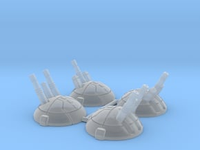 Round Dropship Turrets (4) in Smooth Fine Detail Plastic