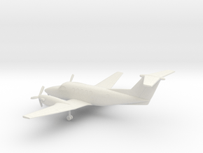 Beechcraft Super King Air 200 in White Natural Versatile Plastic: 1:160 - N