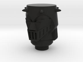 Microman Baron Karza Head in Black Natural Versatile Plastic