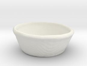 Wicker Basket in White Natural Versatile Plastic