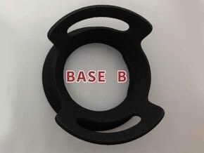 BASE - B - ( Ornament Series ) in Black Natural Versatile Plastic
