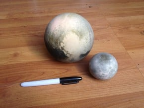 Pluto & Charon - 13 July in Full Color Sandstone