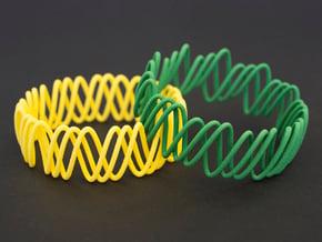 Spring Bracelet in Yellow Processed Versatile Plastic