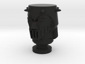 Micro Jeeg Baron Karza Head in Black Natural Versatile Plastic