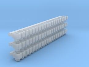 Ammunition Belt Feed Links X60 in Smoothest Fine Detail Plastic