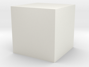 3D printed Sample Model Cube 0.25cm in White Natural Versatile Plastic