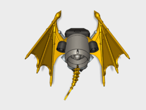 Draco Jetpacks (SM) in Smooth Fine Detail Plastic: Small