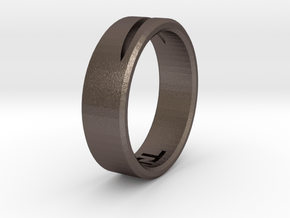 Katana1cut in Polished Bronzed-Silver Steel