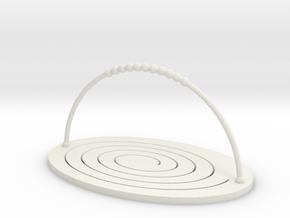Folding Basket in White Natural Versatile Plastic
