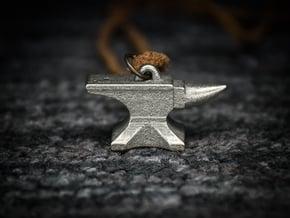 Anvil Pendant - Original Design in Polished Nickel Steel