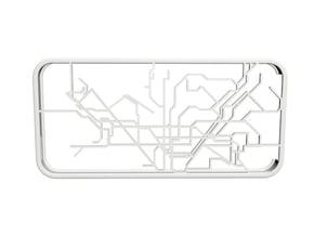 Barcelona Metro map iPhone 5s case in White Natural Versatile Plastic