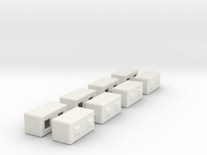 1/64th Precast Barrier Concrete Block in White Natural Versatile Plastic
