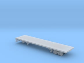1/87 Scale Transit 30ft Flatbed Trailer in Smooth Fine Detail Plastic