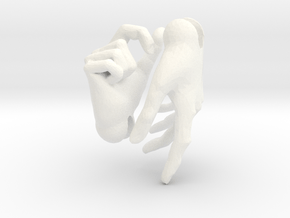 Human male hands for 'Storybook' BJD  in White Processed Versatile Plastic