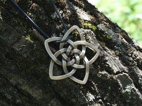 Venus flower pendant in Polished Bronzed Silver Steel