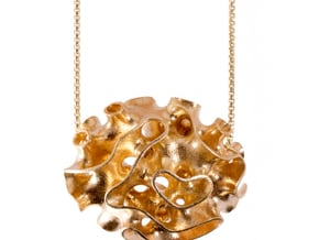 Porifera - Oscula Necklace in Natural Brass