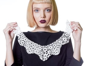 Kinematics 175n necklace in White Natural Versatile Plastic