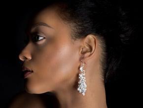 Cassiopea Earrings in White Natural Versatile Plastic