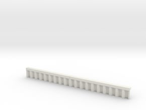 N Scale Sheet Piling Quay Wall H13 L142.5 in White Natural Versatile Plastic