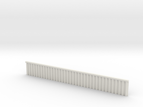1:285 Quay Wall Sheet Piling H20mm in White Natural Versatile Plastic