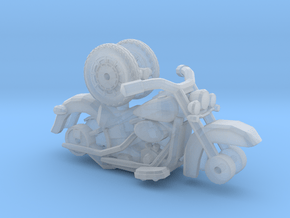 1/87 Scale Classic Soft Tail Motorcycle in Smoothest Fine Detail Plastic