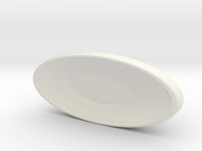 Deflector Dish - Saucer Mount for 1:350 Refit in White Natural Versatile Plastic