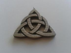 Triquetra / Trinity Knot in Polished Bronzed Silver Steel