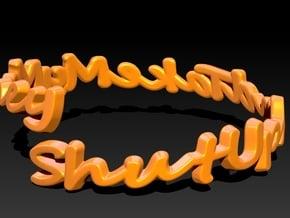 ShutUpAndTakeMyMoney Ring 22mm in 14K Yellow Gold