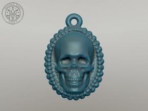 Skull Earring in Polished Silver