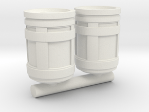 1/87 Scale SYFY Barrels in White Natural Versatile Plastic