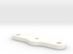 Snackbar v1.5 & 2.5 - Logo Housing Clamp Plate in White Processed Versatile Plastic