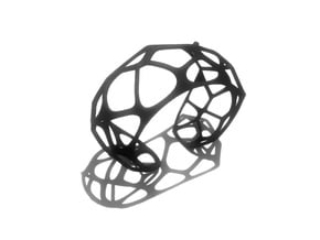 Exteriority Bracelet in Black Natural Versatile Plastic: Small