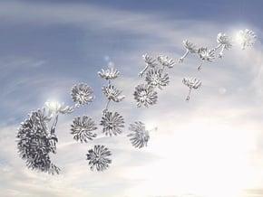 Wild Wind Dandelion in Smooth Fine Detail Plastic