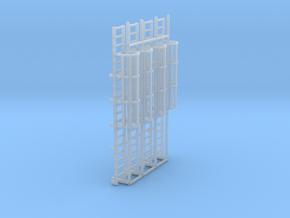1:100 Cage Ladder 61mm Platform in Smooth Fine Detail Plastic