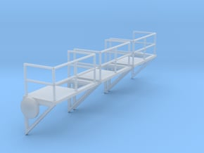 1:100 Ladder Platform Right 3pc in Smooth Fine Detail Plastic