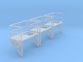 1:100 Ladder Platform Left 3pc in Smooth Fine Detail Plastic