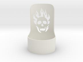 halloween tealight skull in White Natural Versatile Plastic