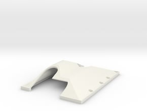 TF2 GCM LRT2 Trans/T-case Skid Plate LEFT SIDE in White Natural Versatile Plastic