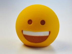 3D Emoji So Happy! in Full Color Sandstone