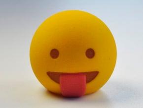 3D Emoji Na Ne Na Ne Boo Boo in Full Color Sandstone