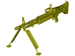 1/20 scale Saco Defense M-60 machinegun x 1 in Smooth Fine Detail Plastic