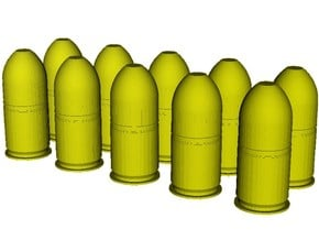 1/20 scale M-781 40x46mm grenades x 10 in Smooth Fine Detail Plastic