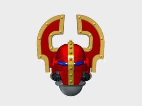 10x Wrecker Legion - Teutonic Helmets in Smooth Fine Detail Plastic