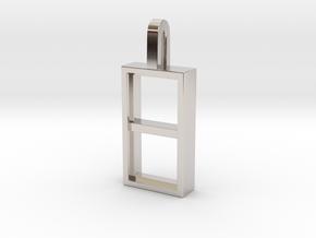 Window in Rhodium Plated Brass