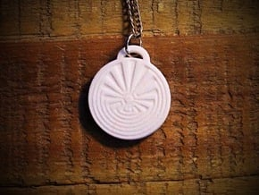 Radial Labyrinth Aromatherapy Pendant in Natural Sandstone