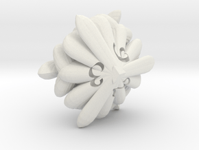 Oyster d6 in White Natural Versatile Plastic
